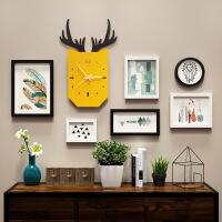 新款实木相框北欧照片墙装饰实木相框墙创意相框挂墙组合套装连体挂客厅相片墙