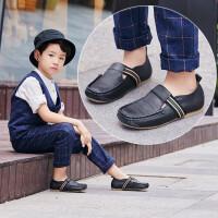 儿童鞋男童软皮休闲皮鞋豆豆鞋春秋款单鞋英伦软底鞋子