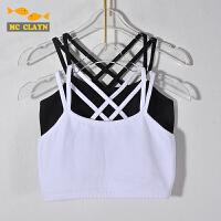 黑色白色女童跳舞跑步练功打底小背心吊带儿童内衣