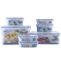 乐扣乐扣 普通型保鲜盒7件套装冰箱收纳 HPL827S001 半透明