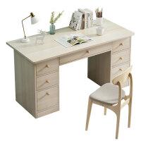 电脑桌台式卧室学生书桌写字学习桌简约家用带抽屉办公小桌子租房