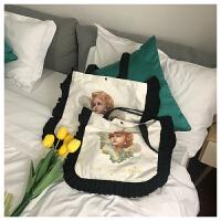新款大容量文艺手提包包单肩帆布包日系学院风女士包袋