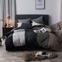 风简约欧式全棉四件套被单床上被子男纯棉床单被套4三件套v定制