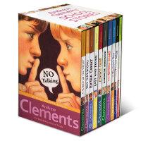 顺丰发货 Andrew Clements' School Stories 10本盒装 安德鲁克拉门校园系列英文原版少儿读物The Landry News, The Janitor's Boy