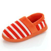 棉拖鞋冬季保暖拖鞋情侣拖鞋条纹家居拖鞋小包跟居家拖鞋
