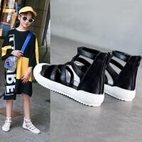 2019夏季新款时尚软底鞋女孩童鞋沙滩鞋童鞋包头女童凉鞋儿童罗马鞋