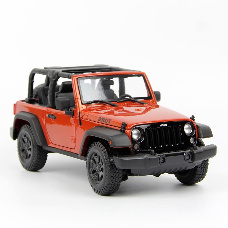 1:18 JEEP吉普牧马人车模 越野车SUV合金汽车模型仿真