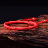 本命年男女红绳编织手链饰品手工编制金刚结情侣简约宝宝手绳礼物