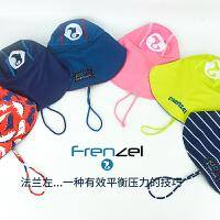 儿童海滩防紫外线沙滩遮阳帽卡通轻便透气弹力宝宝防晒泳帽