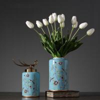 客厅欧式摆件家居装饰品摆设新古典现代创意工艺品陶瓷装饰罐摆件