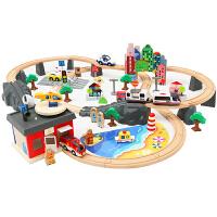电动轨道车男孩益智积木过山车小火车套装轨道儿童玩具