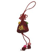 谢馥春 固体香水高雅配饰古典小香囊 5g 红色 国妆经典系列