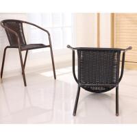 【品牌特惠】塑料大藤椅麻将椅餐椅凳办公电脑椅靠背椅子休闲椅围椅椅子 配坐垫