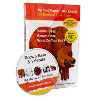 卡爷爷Eric Carle Bear Book小熊英文原版套装 4册平装附CD盒装 Brown Bear,Brown Bear,What Do You See? 棕色的熊、棕色的熊,你在看什么?