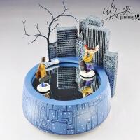 毕业季礼物水晶球音乐盒情侣几米相遇旋转音乐盒八音盒创意生日礼物情侣送男女友女生天空之城