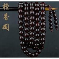 檀香阁 正宗印度小叶紫檀手串2.0老料男士满金星108颗佛珠手链女