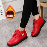 【单棉可选】秋冬女鞋妈妈鞋短靴加绒保暖棉鞋系带软底老北京布鞋