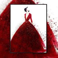 十字绣钻石绣结婚用 满钻石绣红色婚纱客厅卧室贴钻十字绣结婚简约现代g