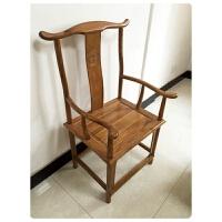 【新品热卖】中式仿明清古典实木餐椅南榆木圈椅主人椅子官帽椅办公椅太师椅