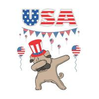 【预订】USA: Dabbing Pug Dog Uncle Sam 4th of July Independence