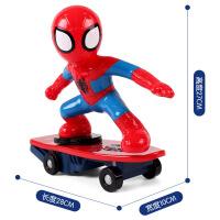 蜘蛛�b滑板玩具迷你�b控��和�超小男孩微型��有��D翻�L特技充� �t色