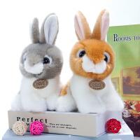 兔子毛绒玩具玩偶仿真小白兔公仔布娃娃可爱灰兔兔少女心礼物