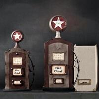 美式做旧铁艺加油机模型复古加油器摆件创意家居摆设工作室酒吧咖啡厅软装饰品陈列道具