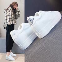 增高小白鞋女鞋春季新款厚底内增高韩版百搭休闲鞋卡通猫咪鞋