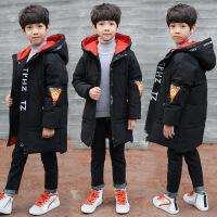男童棉衣新款中长款加厚中大童儿童棉袄冬装外套潮衣韩版 黑色 120cm(120码建议身高105-115CM)