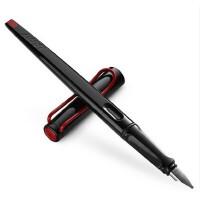 德国LAMY凌美钢笔 JOY 喜悦系列艺术钢笔黑杆红夹钢笔