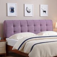 秋上新床头靠垫靠背软包榻榻米无欧式拆洗床头罩靠枕单卧室双人床布艺皮定制