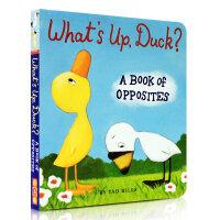 【全店300减100】What's Up, Duck?: A Book of Opposites Tad Hills 幼