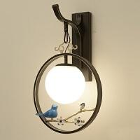 【品牌特惠】新中式创意禅意台灯客厅书房卧室落地灯中国风小鸟茶室楼立式灯具