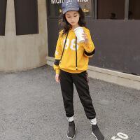 女童秋天套装10大童女装12韩版8儿童7运动9秋天小女孩衣服13岁潮wk-93