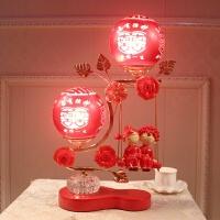 婚庆台灯红色创意卧室婚房床头灯结婚礼物新婚陪嫁灯长明灯时尚