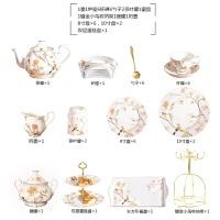 【新品热卖】水杯套装英式下午花茶茶具套装红茶杯陶瓷杯子家用咖啡杯欧式杯具 8件