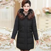 妈妈冬装棉袄中长款40岁50中老年女装羽绒新款时尚棉衣外套