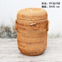 【优选】2019的越南藤编茶叶罐普洱茶存茶灌七子饼茶叶收纳盒小沱茶散