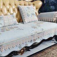 欧式沙发垫四季 通用布艺防滑客厅123组合套美式真皮坐垫
