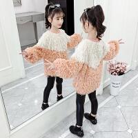 2019秋冬季新款洋气小女孩宝宝上衣服女童秋装新款卫衣