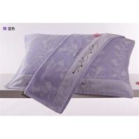 全棉枕巾一对依诗家全棉枕头毛巾欧式老公老婆枕巾定制 _ SK2001H紫色两条