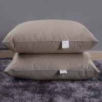 专柜羽绒枕芯95%白鹅绒枕头五星级酒店专用枕护颈枕一对L05定制