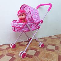 铁杆手推车儿童玩具 宝宝过家家小推车娃娃学步仿真手推车
