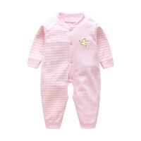 夏季3个月棉长袖爬服可爱婴儿连体衣婴儿衣服女宝宝春秋装