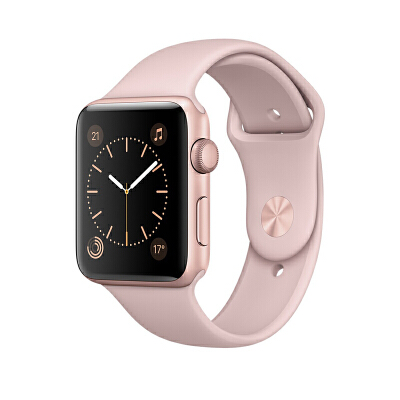 Apple Watch Series 2 智能手表(42毫米玫瑰金色铝金属表壳 粉砂色运动型表带 GPS 50米防水 MQ142CH/A)可使用礼品卡支付 国行正品 全国联保
