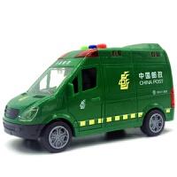 救护车 仿真救护车警车汽车玩具车2岁儿童宝宝音乐耐摔惯性车邮政车玩具