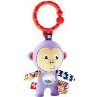 费雪(Fisher Price) 婴幼儿宝宝 0-1岁抓握训练牙胶摇铃玩具 DYF91