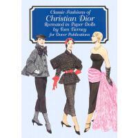 【预订】Classic Fashions of Christian Dior: Re-Created in Paper