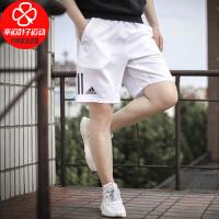 Adidas/阿迪达斯男裤新款运动裤跑步健身训练宽松舒适透气梭织短裤五分裤DP0302