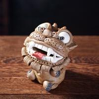 陶瓷貔貅茶宠摆件精品可养创意手工茶具雕塑摆件插香器*